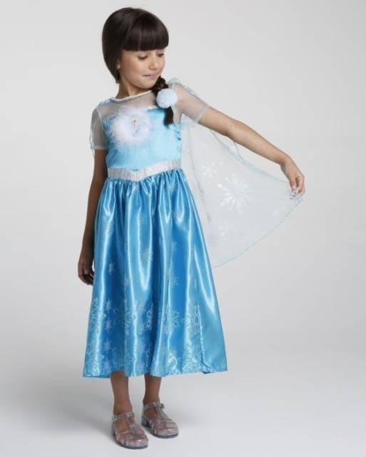 Vestido da frozen: simples com tamanho médio