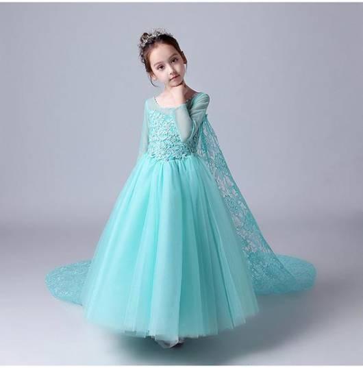 Vestido da frozen: vestido da Elsa rodado
