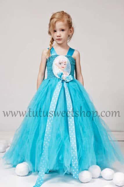 Vestido da frozen: vestido da Elsa com estampa