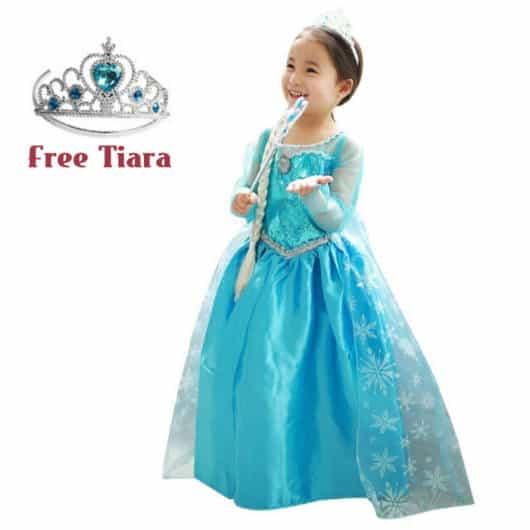 Vestido da frozen: vestido da Elsa longo