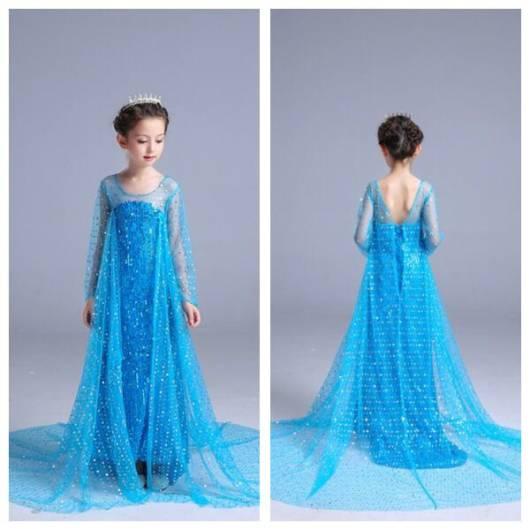 Vestido da frozen: vestido da Elsa com tiara
