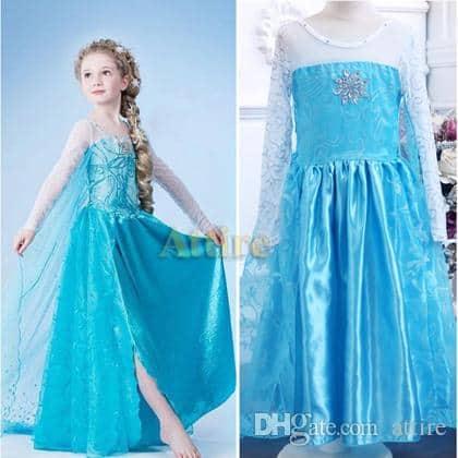 Vestido da frozen: vestido da Elsa com fenda