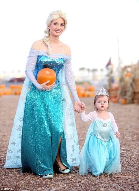 Vestido da frozen: baby com coroa