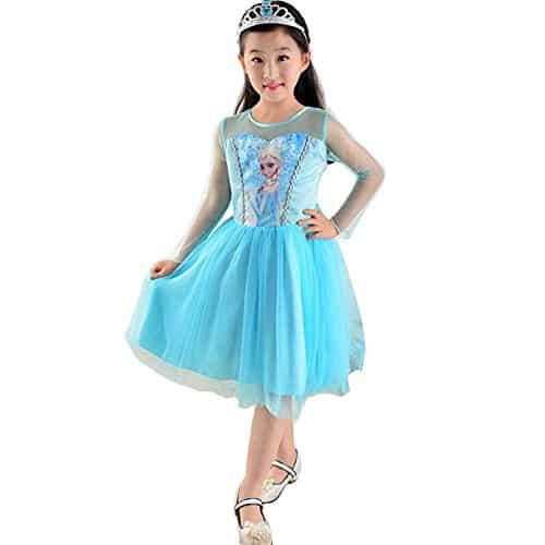 Vestido da frozen: vestido da Elsa curto rodado