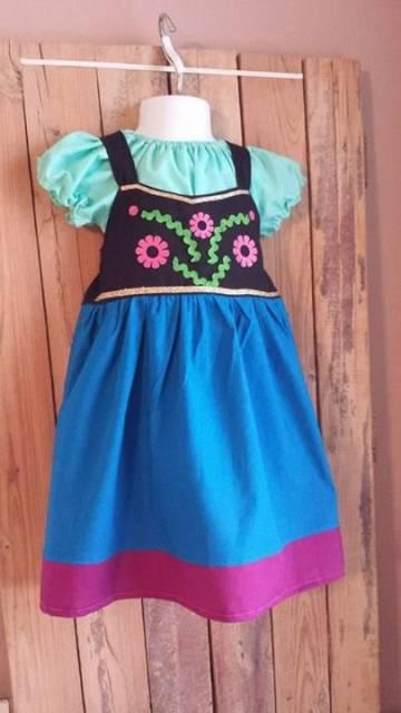 Vestido da frozen: vestido da Ana baby