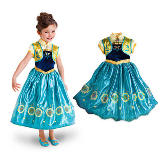 Vestido da frozen: vestido da Ana fever