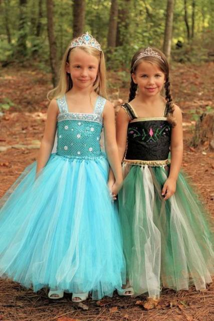 Vestido da frozen: vestidos Elsa e Anna para aniversário