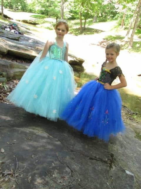 Vestido da frozen: vestido rodado para aniversário