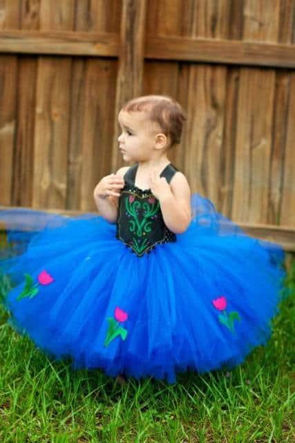Vestido da frozen: vestido baby para aniversário