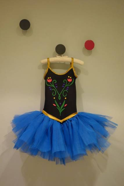 Vestido da frozen: vestido com tule para aniversário