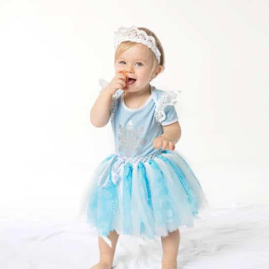Vestido da frozen: baby com curto