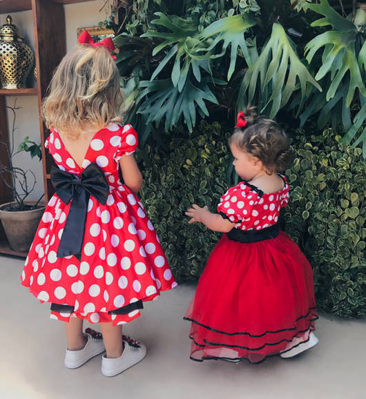 vestidos da Minnie