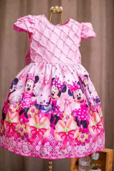 vestido para festa da minnie