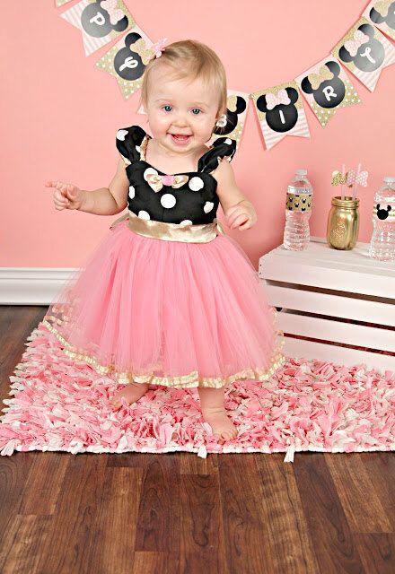 vestido da Minnie para bebê de 1 ano