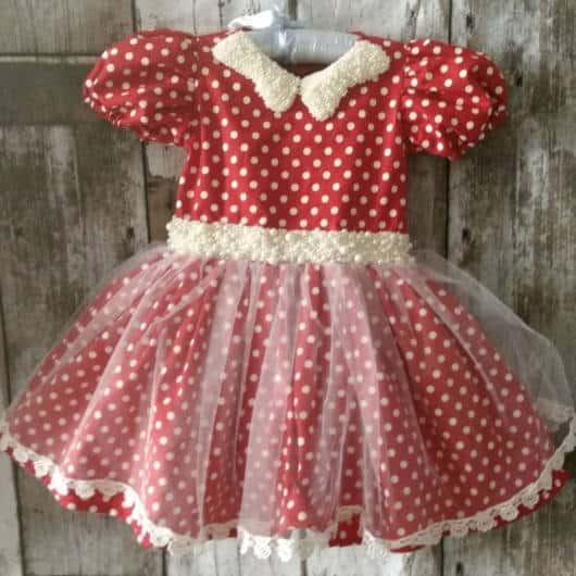 Vestido da Minnie vermelho