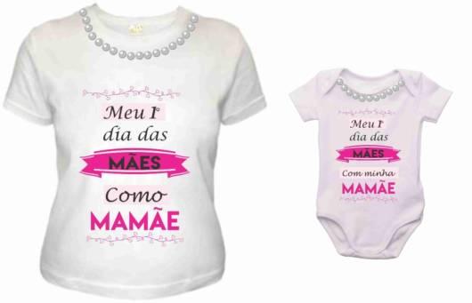 blusa com frase para dia das mães