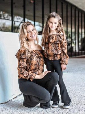 blusa mãe e filha ciganinha