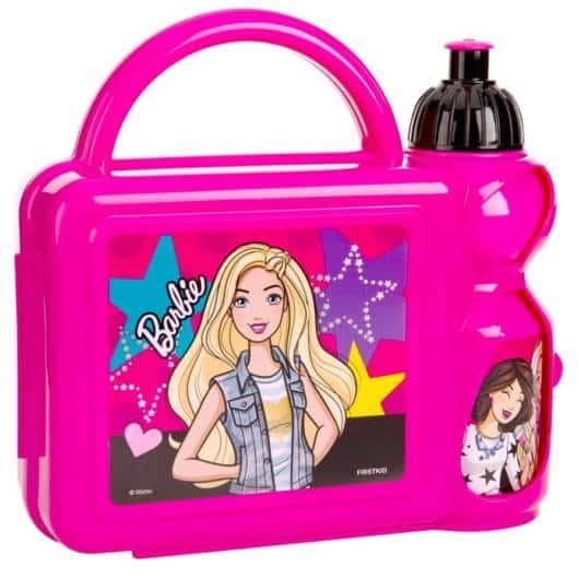 Lancheira infantil feminina: Barbie de plástico