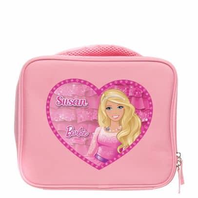 Lancheira infantil feminina: Barbie rosa claro