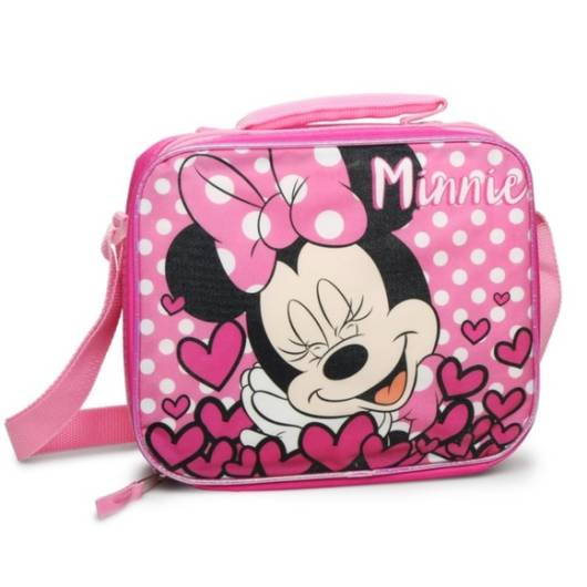 Lancheira infantil feminina: Minnie rosa
