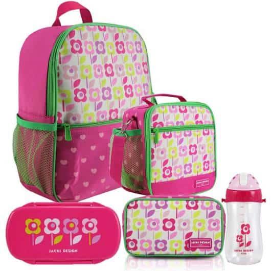 Lancheira infantil feminina: mochila com lancheira