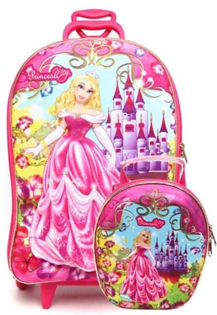 Lancheira infantil feminina: mochila com lancheira da Barbie