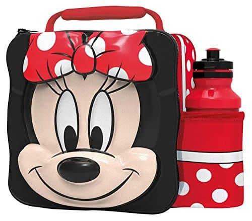 Lancheira infantil feminina: Minnie vermelha