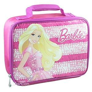 Lancheira infantil feminina: Barbie rosa e branca