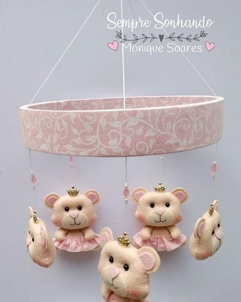 decoração quarto de bebê menina