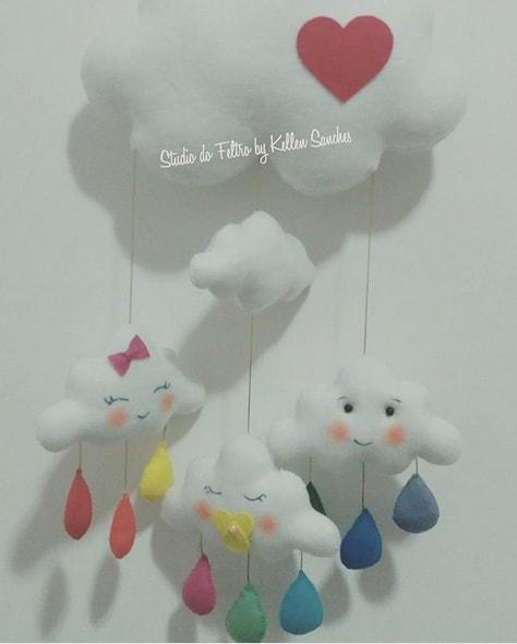 decoração de nuvem