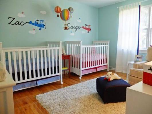 quarto simples para casal de gêmeos