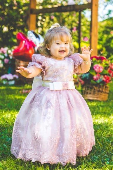 vestido rosa infantil
