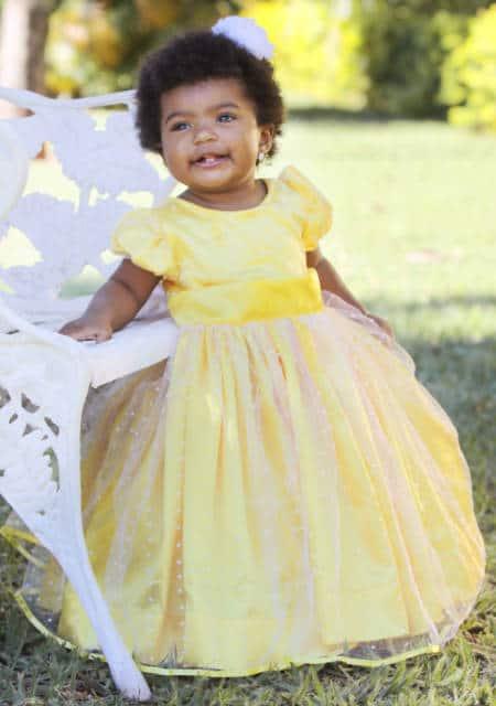 vestido amarelo rodado