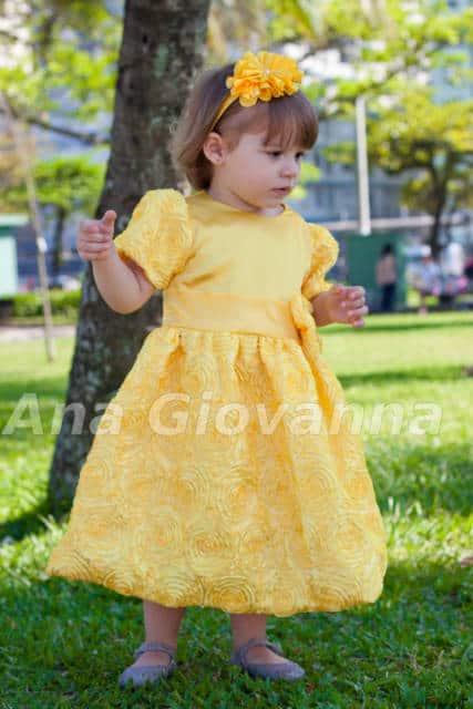 vestido amarelo inffantil