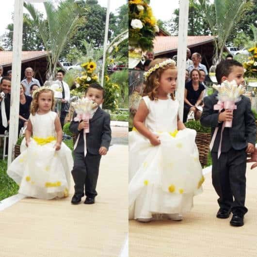 vestido amarelo casamento no campo