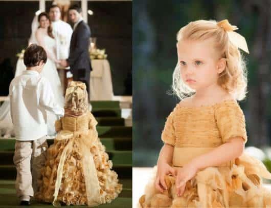 vestido de luxo dourado