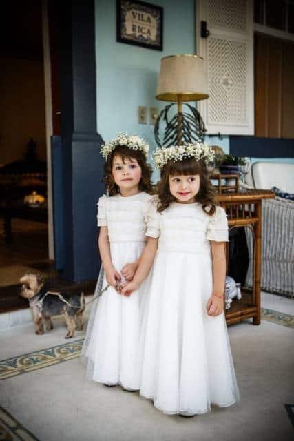 vestido branco para casamento no campo