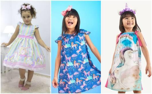 Modelos de vestidos inspirados em unicórnio
