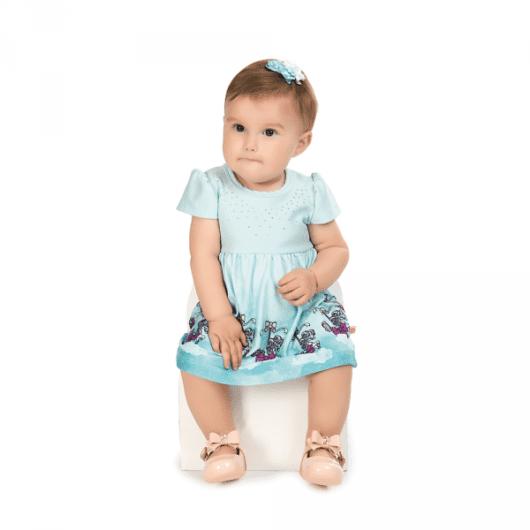 Vestido baby com estampa de unicórnio