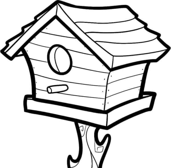 casa de passarinho para colorir