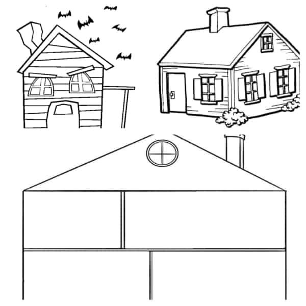 casas para colorir