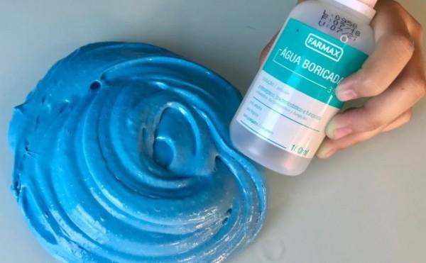 como fazer slime com água boricada