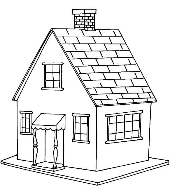 desenho de casa simples