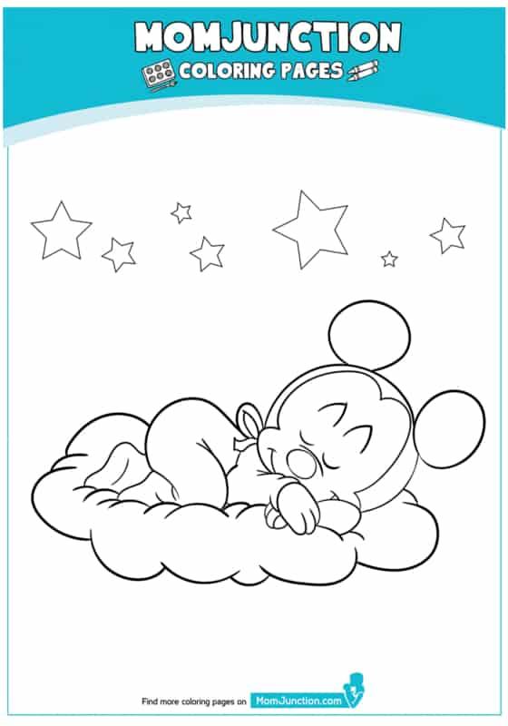 desenho do mickey dormindo