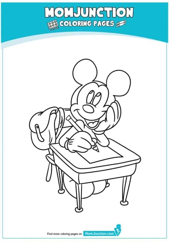 desenho do mickey estudante