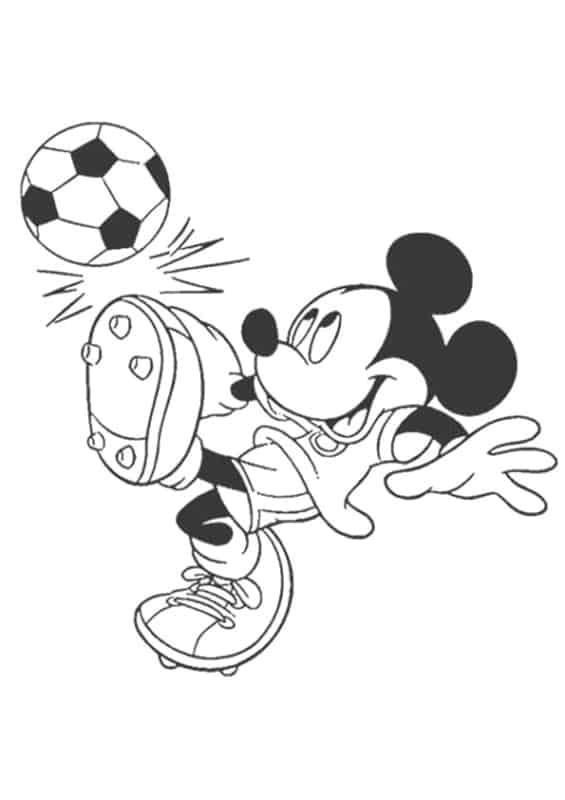 desenho do mickey futebolista