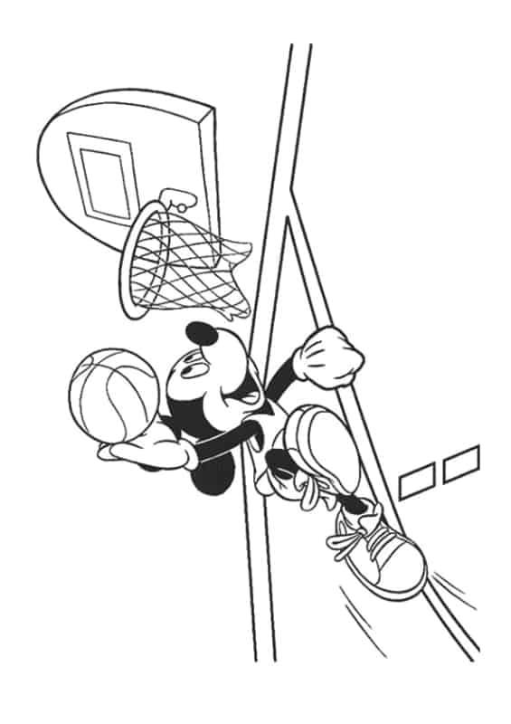 desenho do mickey jogador de basquete