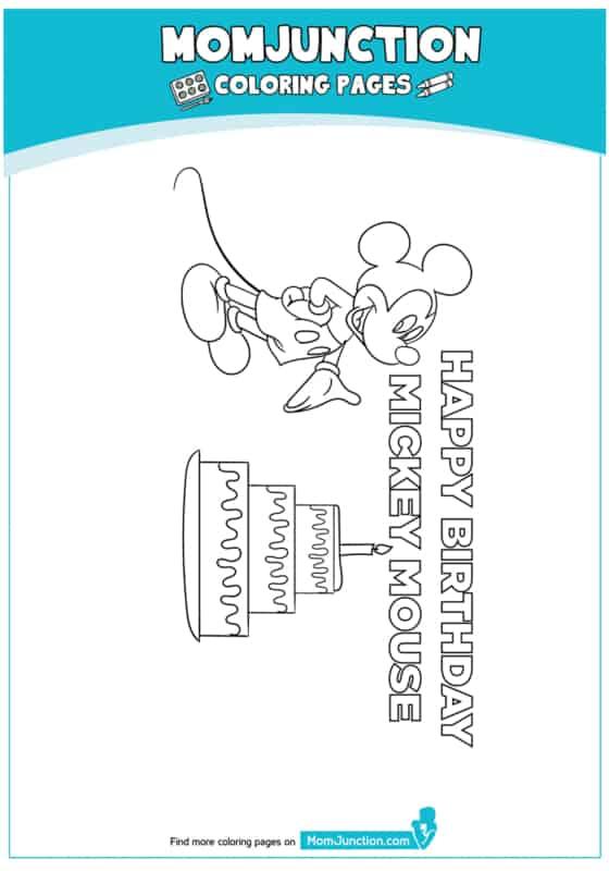desenho do mickey no aniversário