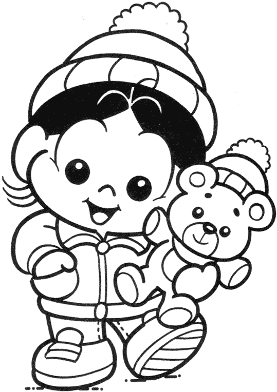 magali baby para colorir