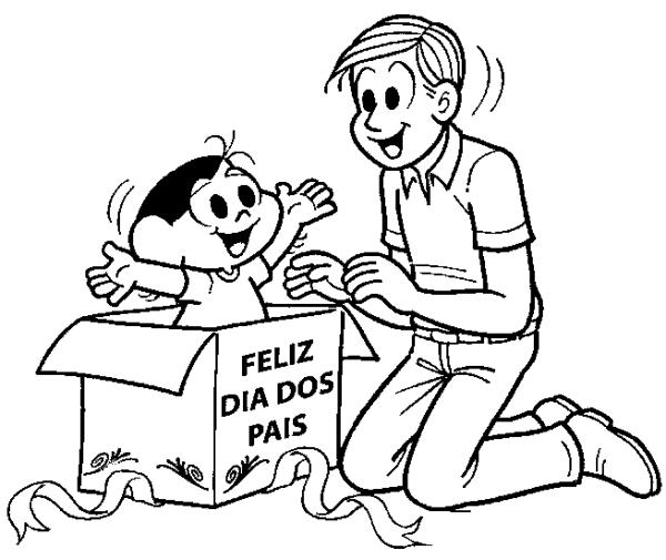 desenho dia dos pais para colorir